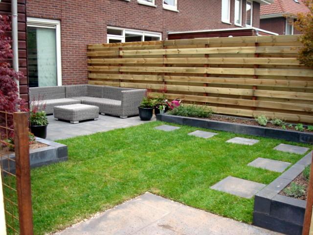 Tuinontwerp aanleg voor achtertuin in steenwijk hoveniersbedrijf gebr de vries - Tuin grind decoratief ...