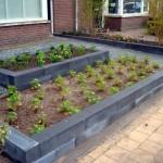 beplanting bodembedekkers verhoogde bak