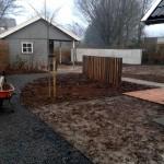 palenrij aanleg tuin