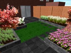 Tuinontwerp en aanleg voor- en achtertuin