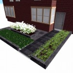 3D ontwerp voortuin tuin